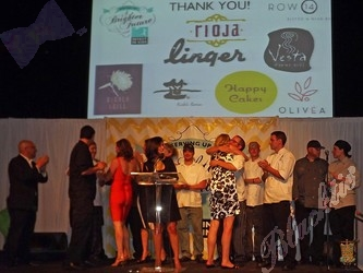 All of the fabulous resturants were asked to rise and be recognized for their contributions to the event
