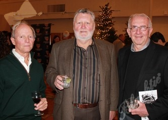 Tennis officials Randy Brame, Bruce Avery and John Suter enjoy the gala