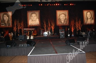 The stage decor