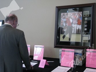 A sports lovers section in the silent auction