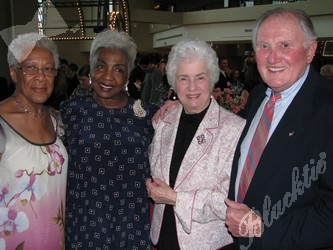Pauline Miles, left, takes time for a photo with Aquilla McKnight, Jackie Lane, and Bill Lane
