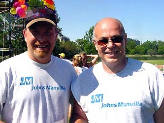 Jim Graham, left, and Joe Ruvino were with event sponsor Johns Manville.