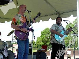 The Leo LaDell blues band provided tunes that filled the park.