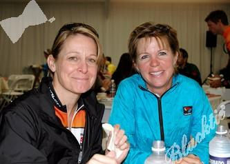 Jewel McGarraugh (left) and Lynda Baker from Colorado Springs.