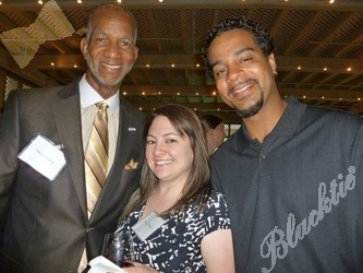 (l to r): Moses Brewer, Alyson Fetherolf and Malik Robinson
