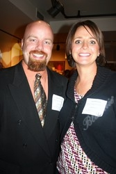 Corporate Partner Award winner, Ryan Dickinson and wife, Sara