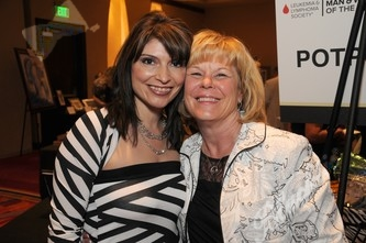 Oliva Millradt-Woman of the Year contestant, left, with Barb Reece