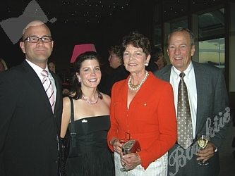 Joel Doub, left, with Karen, Kate and Alan Fox