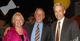 Board members: Denver District Court Judge Cathy Lemon, attorney Gregory Kanan with John Walsh