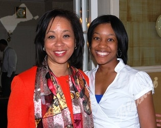 Board member and honoree Gwen Brewer, left, and Stephanie Banks