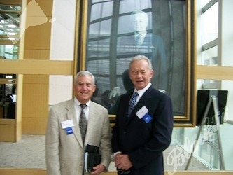 Table host Steve Werner, with Executive Director Mike Johnson