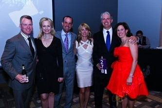 Brad Coors, left, with Kathy Coors, Chris Hunt, Virginia Reiman, Sarah Hunt and Scott Reiman
