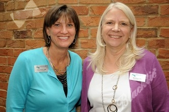 Laurie Elliott, left, with Barb Becker, PhD.