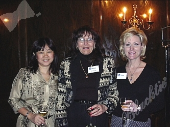 American Wine Society officers share a quiet moment.  Secretary Lillian Quon, Vice President Barbara Fisher and Marketing Director Tina Lovelace