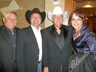 (l to r): Rich Andrews, Ed Ammon, Ed Hoagland and Candace Johnston at the VIP reception