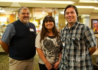 Eugene Medina, left, with Jacqueline Gonzales and David Anglo