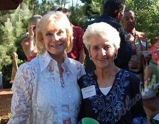Georgia Imhoff, left, with Ginny Messina