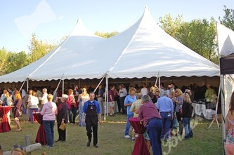 Spacious DIA-like tents provided plenty of open space for about 400 guests and a dozen Colorado caterers and wineries