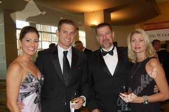 Kelly Trujillo, left, Jason Koch, Keith and Michelle Callender