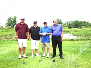 Troy Eggers, left, Steve Morwood, Brent Ebbs and Bernie Eggers