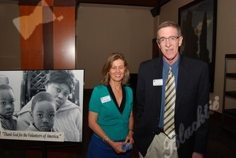 Deb Riddell (program coordinator) (left), Russell Reilly (division director)