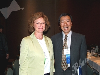 Marilyn Milgrom with the National MS Society and speaker Robert Lew, President of Planning and Financial Advisors and former member of NCPG board of directors