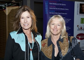 Joy Overbeck (left) with Kristin Jennings (Publisher of Vail-Beaver Creek Magazine)