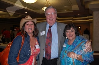 From The Villager: Linda Kehr, left, Publisher Bob Sweeney and Rosemary Fetter
