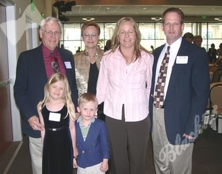 Alexandra Sly and her family, Alexandra was a Hope Award recipient .