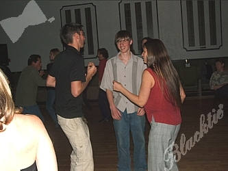 Suzanne dances with son's Josh and Matt