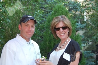 Paul Negan, Executive Chef for Zink (new in the Doubletree Denver Tech Center) served up some great dishes, here being sampled by Kathy Arent