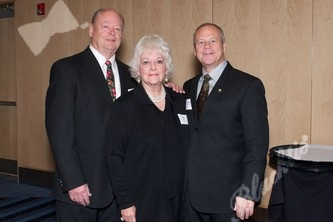 Warren Hanks, left with Helen Hanks and Randy Ohlson