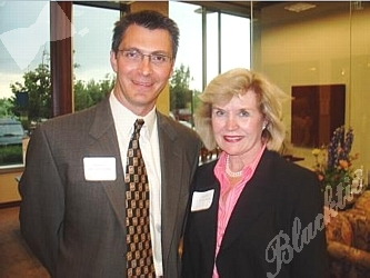 Nick Lepestos and Jean Galloway, owner of the Galloway Group