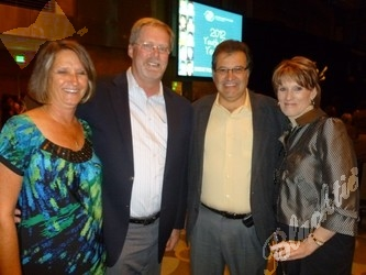 (l to r): Sue and Jim Pasterkamp, and Mike and Kelly DeMattee