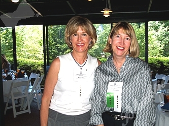 Barbara Berv, Senior Philanthropic Planner for The Denver Foundation, left, with Sally Woods, Vice President of CoBiz (Colorado Business Bank) Private Asset Management