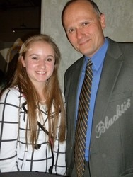 Kayti Schlatter with dad David Schlatter