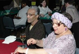 Kenneth Grimes and Jane Jackson at the gaming table