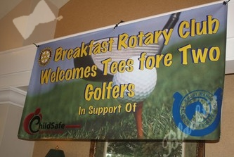 The Fort Collins Breakfast Rotary Club became the premiere sponsor at the third-annual Tees Fore Two.