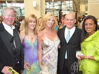 Brian and Shelley Hart, left, Janet Elway and Steve Perkins, and Jeannine Carter