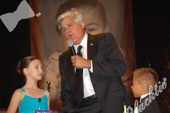 Ayla Charness and Christian Moreno with Jay Leno