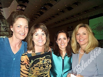 Girls just want to have fun! Friends Carol Schuster, Kathleen Clark, Pamela Haisha and Michelle Schmitz