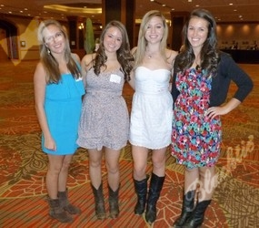 Cute boots (l to r): Nicole Borema, Jill Korach, Molly Biesanz and Whitney Korach