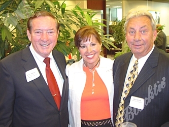 Walt Imhoff, left, with Janet Horvath and Bob Meyer of Infinity of Denver, one of the gold sponsors