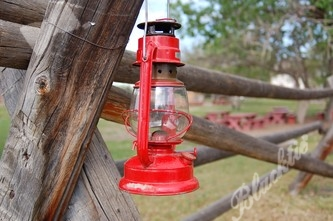 A red lantern lights the way to the Four Mile Historic Park visitors