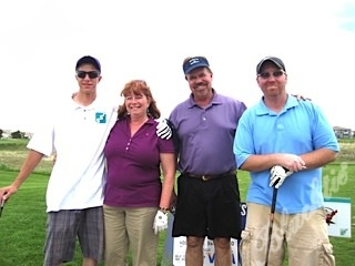 Carl S., left, Eileen Schurmann, Terry Trapp and Eric Bowman