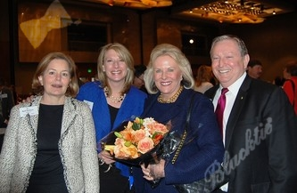 Barb Danborn, left, Kristin Todd, Linda Childears (Outstanding Professional in Philanthropy, Daniels Fund) and Don Childears