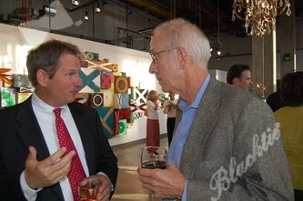 CHC Foundation President and CEO Steve Winesett talks with board member John Fernie