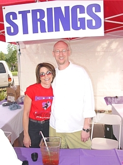 Strings Office Manager Vicki Stedeford and Executive Chef Ed Kent