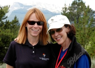 Leslie McKay, Director of Special Events (left) with Peggy Warner, VP of the Children's Hospital Foundation.