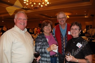 Tom and Bonnie Clark, left, with Mike and Patti Olsen